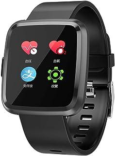 NANE Reloj Inteligente, Impermeable IP68, con Múltiples Modos de Deporte, Pulsera Inteligente con Pulsómetro, Sueño, Blood Pressure, Podómetro, Reloj Hombre para iOS y Android,Blacksteel