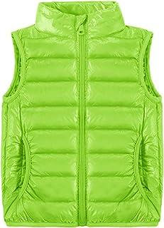 Little Kids Boys Girls Gilet Body Warmers Coat Down Vest Waistcoat Sleeveless Hooded Jacket