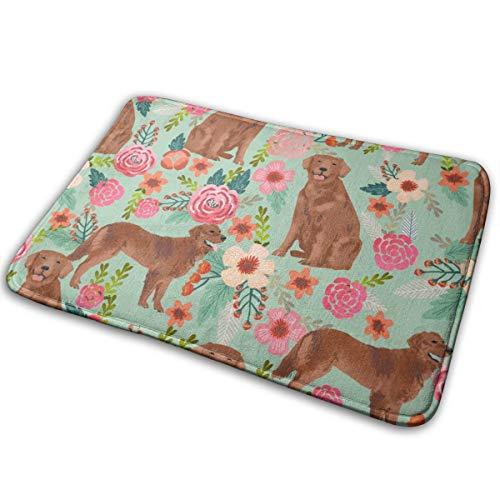 surce deurmat stof – Red Dogs Design Cute Dog Fabric – Mint 16 x 24 inch – absorberend voor buiten – welkom als decoratie