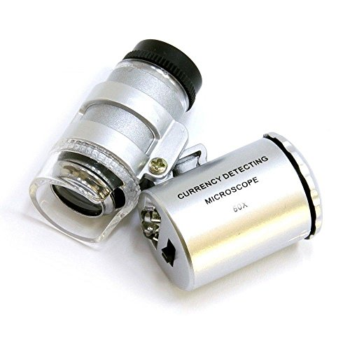 GiXa Technology 60 FachVergrößerungsglas Mikroskop Lupe mit LED und UV Licht für Juwelier Uhrmacher Medizin Industrie Schule Universität