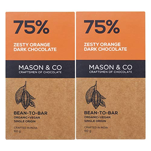 Mason & Co. 75% Zesty Orange Dark Organic Exotic...