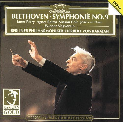 Herbert von Karajan, Berliner Philharmoniker, Agnes Baltsa, José van Dam, Vinson Cole, Ludwig van Beethoven, Wiener Singverein, Janet Perry & Luiggi Madonis