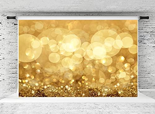 KateHome PHOTOSTUDIOS 3x2m Fondo de fotografía Dorado círculo de Fondos Amarillo Brillo...