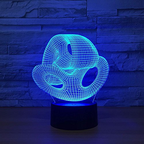 wanmeidp 3D desk lamp LED 7 color change abstract nesting night light novelty baby sleep lighting home decoration USB party gift