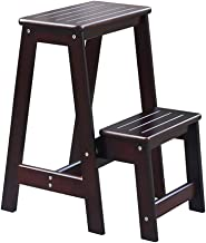 Wood Step Stool for Bedroom - Wooden Steps, Convert Folding Library Ladder Chair Kitchen Steps fold Away (Color : B)