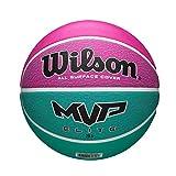 Wilson Pelota de Baloncesto MVP Elite BSKT, Tamaño: 6, Material de Goma, para Uso en Interiores y Exteriores, Rosa/Verde WTB1463XB06