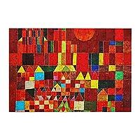 98ピース ジグソーパズル パウル・クレー 城および日曜日 木製パズル 子供の知育玩具 親子お楽しみ (20x29cm)