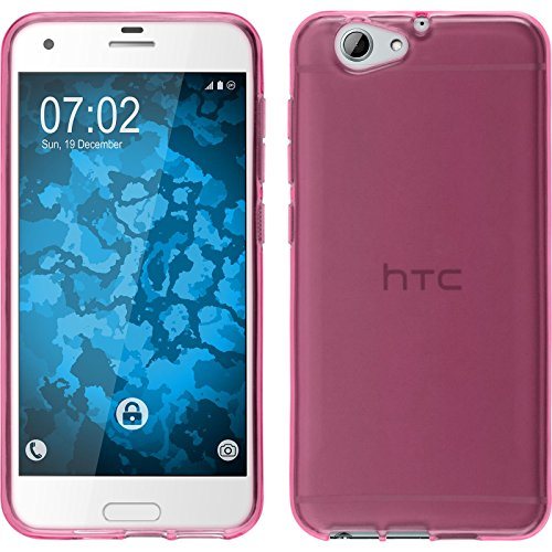PhoneNatic Hülle kompatibel mit HTC One A9s - pink Silikon Hülle transparent Cover