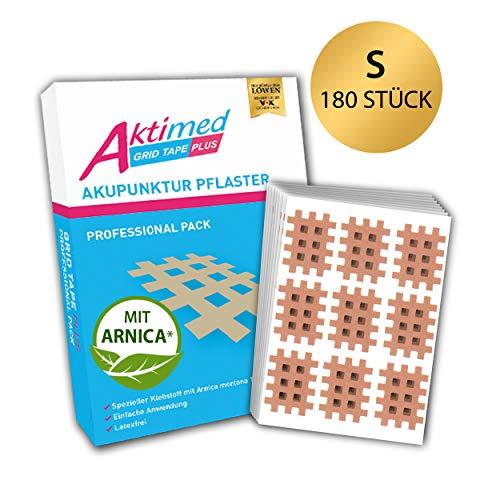 AKTIMED Grid Tape PLUS Professional Pack - Patentbasiertes Gittertape mit natürlichem Extrakt Arnica D6* - Akupunkturpflaster dermatologisch getestet - Crosstape Gitterpflaster Schmerzpunkte