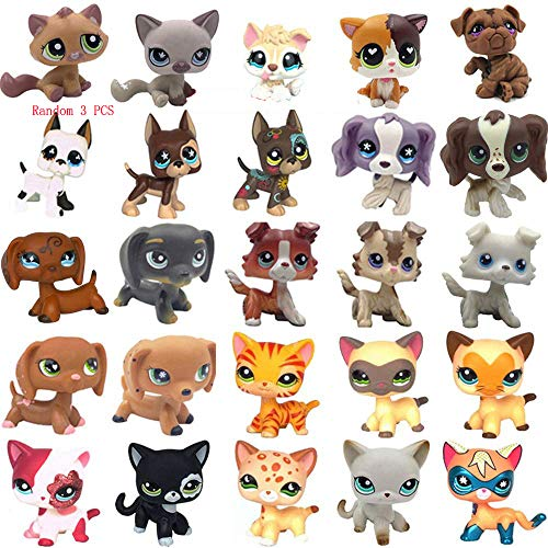 LPSUS LPS Figures (Random 3 PCS& 6pcs lps Accessories Free) Cat and Dog Rare Figures Collection Best Gift for Kids