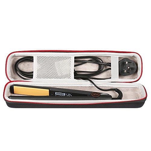 LuckyNV Portátil Que Lleva la Caja de la Plancha de Pelo de EVA para Ghd IV Styler Styler Herramienta Clásica Caja de Almacenamiento de la Caja del bigudí Protector (Negro)