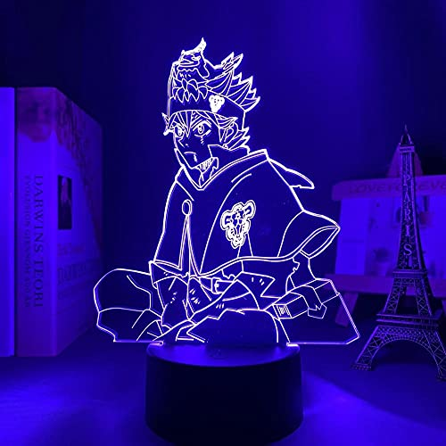 Lámpara LED de ilusión 3D con diseño de trébol negro, 16 colores, con mando a distancia, carga USB, decoración de dormitorio infantil, luz nocturna.