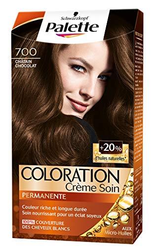 Schwarzkopf - Palette - Coloration Permanente Cheveux - Crème Soin - Couvre 100% des Cheveux Blancs - Tenue 8 semaines - Chatain Chocolat 700