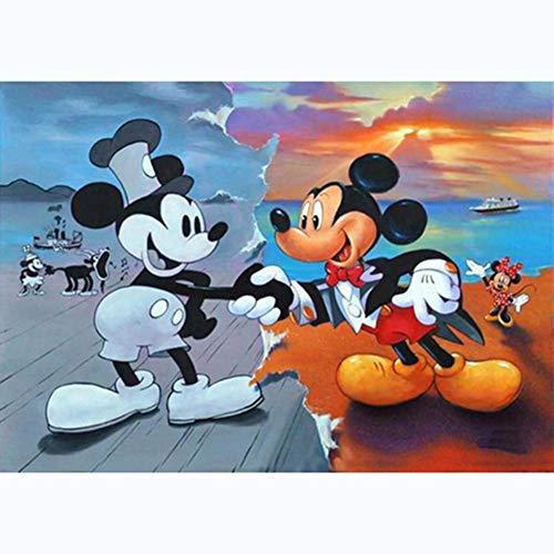 5D DIY Full Drill Diamond Painting Kits de punto de cruz de Mickey Mouse (D248)