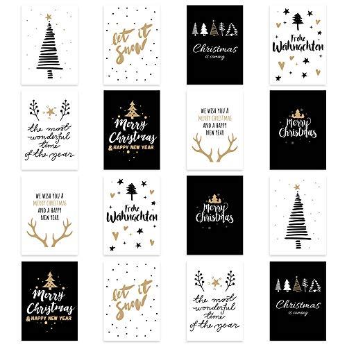 16 Postkarten Weihnachtskarten Weihnachten Christmas Cards Festtagskarten 16 Modelle 8 Designs