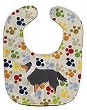 Caroline's Treasures BB6335BIB Sheltie/Shetland Sheepdog Pawprints Baby Bib, 10 x 13', multicolor