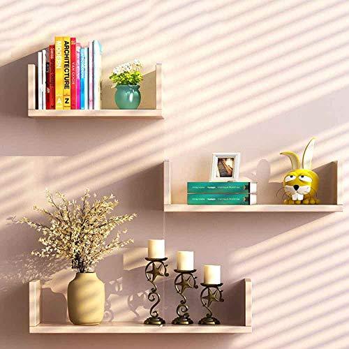 Boekenkasten MEIDUO Boekenplank, Wandmontage Wandplank Display TV Achtergrond Wanddecoratie U-vormige Plank Hoek Partitie Plank Licht Eik