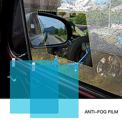 SDGDFXCHN 2 Teile/los Autoseitenscheibe Schutzfolie Anti Fog Membran Anti-Glare Wasserdicht Regen Auto Aufkleber Klar Film