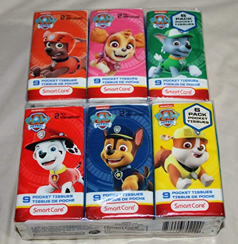 Paw Patrol 2-Play Pocket Tissues 12 Packages by SmartCare 2020 Pandemic Care Items Make Great Stocking Stuffers!