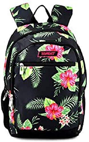 TARGET Kinder-Rucksack mit Chili-Blumenmuster Einheitsgröße schwarz / grün