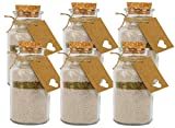casavetro - Juego de 6 tarros de Cristal con tapón de Corcho (250 ml, Redondos, 0,25 L, vacíos)