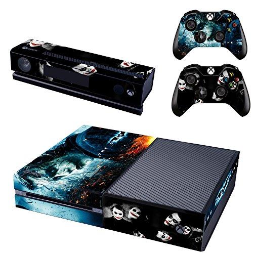 REYTID Console Skin/Sticker + 2 x Controller Decals - Kinect Wrap Compatible avec Microsoft Xbox One - Full Set - Batman Joker Dark Knight
