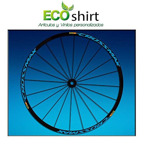 Ecoshirt E4-SSDJ-3TBJ Adesivi Stickers Cerchioni Rim Mavic Crossmax SL Pro 26' 27,5' Am50 MTB Downhill, Blu 27,5'
