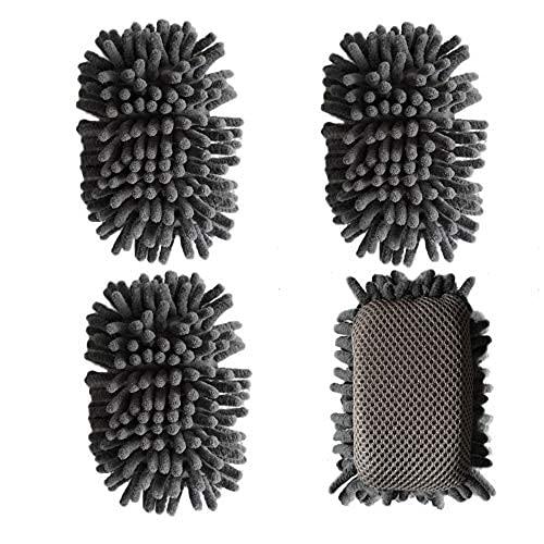 Borrador de borrado en seco, 4 unidades de borrador de microfibra lavable para pizarras blancas de borrado en seco y marcadores, ideal para el hogar