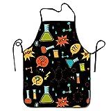 Jhonangel Delantal de química de Color Unisex para Mujeres y Hombres 100% poliéster Durable Cómodo Babero Chef Delantales de Cocina