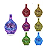 Firework Glass Usb Air Humidifier,3d Glass Essential Oil Diffuser,Aromatherapy Diffuser Ultrasonic Humidifier With 7 Color Changing Led Night Lights