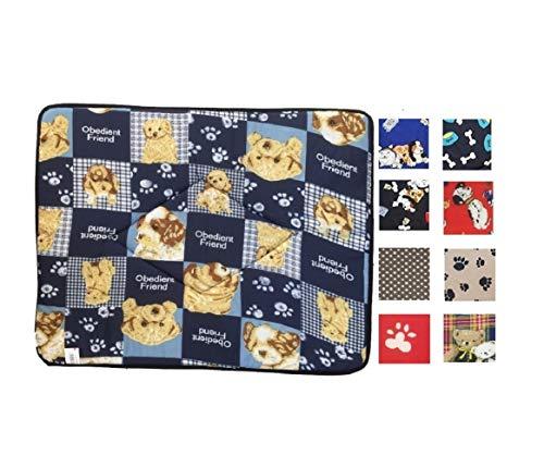 Ducomi® Tobia - Colchoneta y Cuna para Perros y Gatos con Forro Impermeable - Cojín Repelente al Agua para Perros, Gatos y Mascotas (51 x 67 cm, Random Colors)