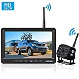 LeeKooLuu HD 960P Digital Wireless Backup Camera with 7''Monitor Highway Observation System for RVs,Trucks,Motorhomes,Travel Trailers Hitch Rear View Camera Super Night Vision DIY Guide Lines