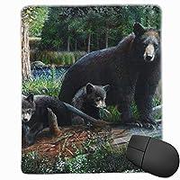 マウスパッド ゲーミング オフィス最適 クマとカブの太い森 高級感 おしゃれ 防水 耐久性が良い 滑り止めゴム底 ゲーミングなど適用 マウスの精密度を上がる( 25*30*0.3cm )