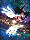 AXKQ DIY diamond painting embroidery, Mickey Mouse set, round resin diamond cross stitch children's holiday gift(19.7x27.6inch)