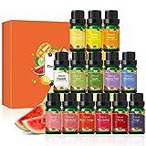 Conjunto de óleos de fragrâncias frutadas, óleos essenciais perfumados ESSLUX 14 para difusor, aromas de velas de sabão, coco, pêssego, melancia, abacaxi e muito mais, conjunto de presente para casa de óleos essenciais de aromaterapia