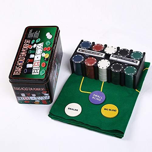 ningdeCK Juego de póquer juego de 200 piezas de entretenimiento digital portátil divertido juguete ligero con chips Club Casino adulto caja de aluminio