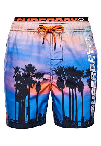 Superdry Herren State Volley Swim Shorts, Mehrfarbig (Skate Palm 0VP), X-Large