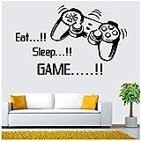 Promotion Mangez Jeu De Sommeil vinyle wall art stickers gamer xbox ps3 Garçons Chambre Lettre Quotes Home Décoration Murale...