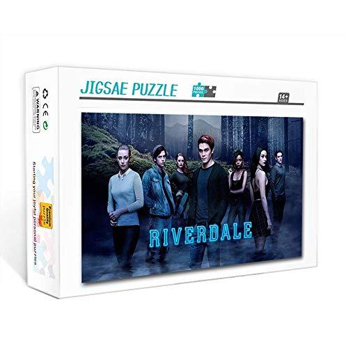 Puzzle de 1000 piezas para adultos Riverdale KJ Apa Crimen Suspenso American TV 2 Juego familiar, trabajo en equipo, regalo y regalo para amantes o amigos. 75x50cm
