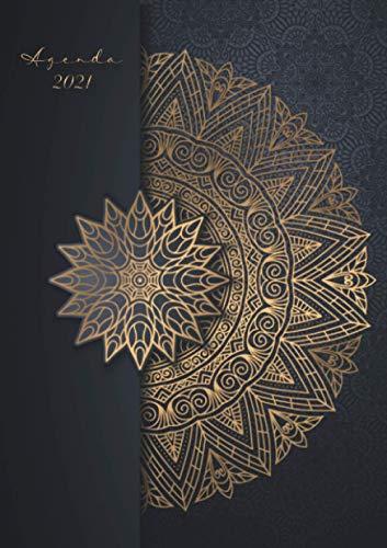 Agenda 2021 : Mandala nero e oro: Agenda settimanale 2021 | Namaste Terapia artistica | Piccolo formato A5 | Da notare tutti gli appuntamenti da gennaio a dicembre 2021 | 124 pagine | Italiana