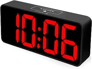 DreamSky 8.9 Inches Large Digital Alarm Clock with USB Charging Port, Fully Adjustable Dimmer, Battery Backup, 12/24Hr, Snooze, Adjustable Alarm Volume, Bedroom Desk Alarm Clocks