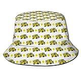 NA Fisherman Sun Cap, School Bus Crazy Fishing Hat, Gorra de Pescador Liviana fácil importada sin Costuras importada para Adulto