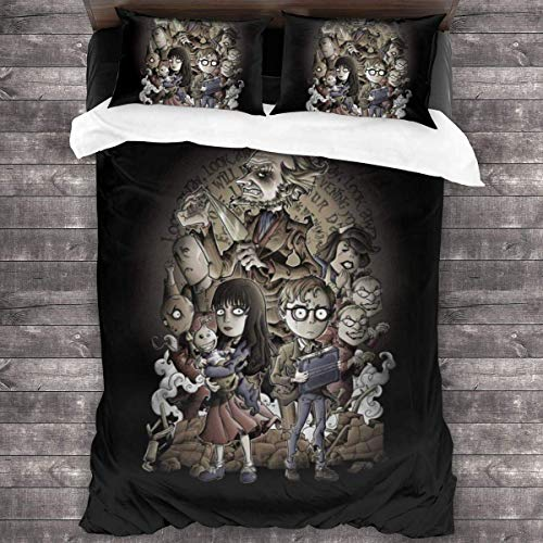 Yuanmeiju Lemony Snicket Count Olaf Look Away 3 Pieces Bedding Set Duvet Cover 86x70 Inch Decorative 3 Piece Bedding Set with 2 Pillow Shams