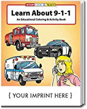 ZOCO Learn About 911 Kid's Educational Coloring & Activity Books in Bulk (Qty of 250) - Customized with Your Logo or Imprint