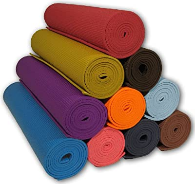 """Yoga Mat 3/16"""" Thick, 24"""" Wide, 68"""" Long - High Density - Non-Toxic - Phthalate Free - Clean PVC - Non-Skid"""
