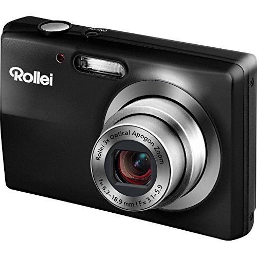 Rollei Compactline 412 Digitalkamera (12 Megapixel, 3-Fach Opt. Zoom, 6 cm (2,4 Zoll) Display, bildstabilisiert) schwarz