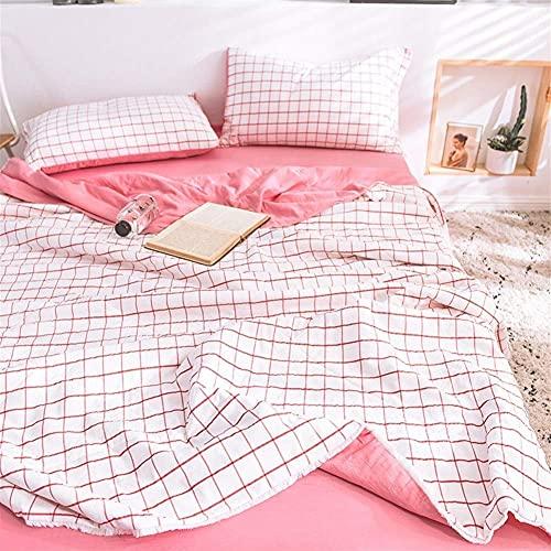 Decorazioni per la casa Set piumino estivo e 2 federe 1.5 Tog Motivo a righe geometriche Set biancheria da letto trapuntata alla moda lavabile in lavatrice Divano trapuntato coperte (Color : C Size :