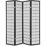 Giantex 3 Panel Folding Privacy Screen Room Divider Shoji Screen with Cracks PatternLiving Room Bedroom Furniture