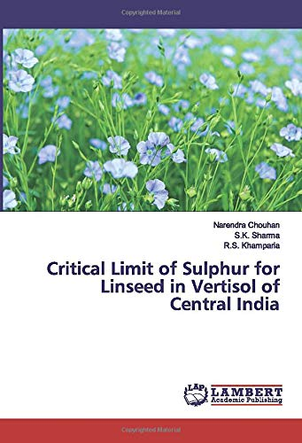 Critical Limit of Sulphur for Linseed in Vertisol of Central India