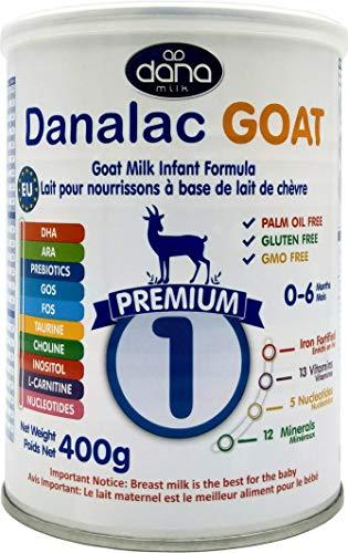 DANALAC PREMIUM Lait bébé en poudre à base de lait de Chèvre 1er âge pour nourrissons et bébés de 0 à 6 mois - Formule EU-2020 (400 g - Lot de Boîtes de 1)